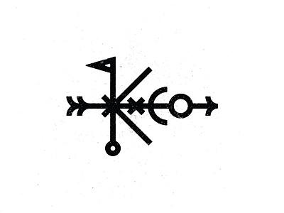 K & Co. anchor nautical rough pin flag co x texture arrow