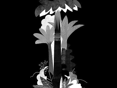 The Bush darkness wilderness tree plants nikau forest trees jungle