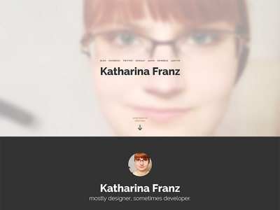 katharinafranz.com v3 vcard css3 html5 transition animation
