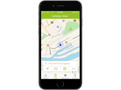 golf app: finding a golf club near you maps green design ios iphone app golf