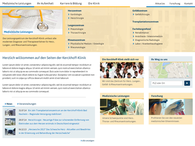 version 2: possible redesign of a medical website white collar relaunch redesign medical clinic