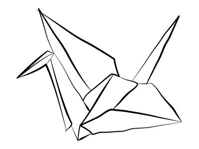 origami crane origami crane illustration crumbled paper