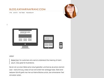 blog.katharinafranz.com blog tumblr layout design