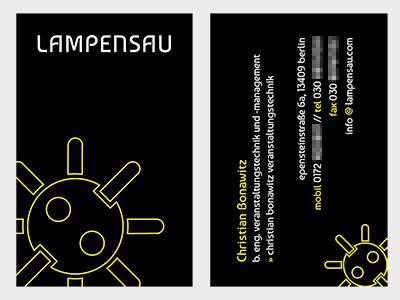 business card: lampensau business card card vcard
