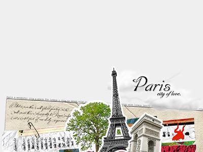 random collage: paris paris collage cut-outs