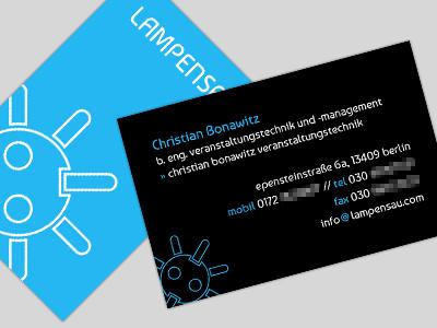 business card: lampensau (final) vcard business card card
