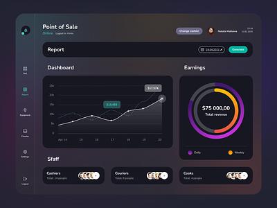 Dashboard design report gradient ux product theme dark ui dark dashboard ui dashboad visual design ux design uiux ui