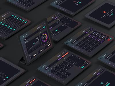 UI elements - dashboard mockup elements dashboard gradient dark theme dark product design product design ux ui