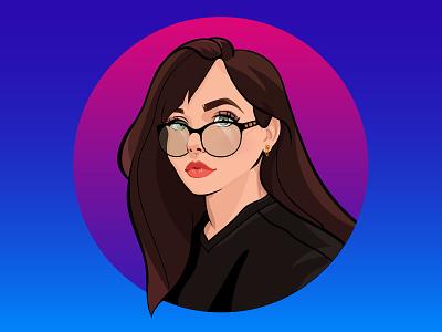 Self-portrait illustration design art drawing sketch vector digital art illustration