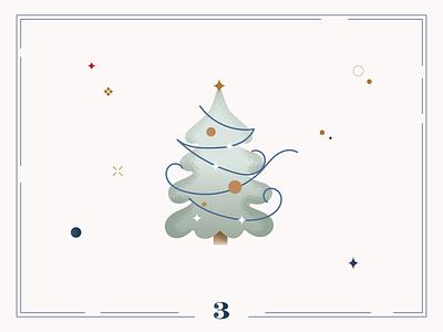 Christmas Calendar🎄Day 3 winter design digital art illustraion card christmas calendar
