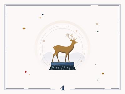 Christmas Calendar 🦌Day 4 christmas card christmas winter design calendar illustration digital art