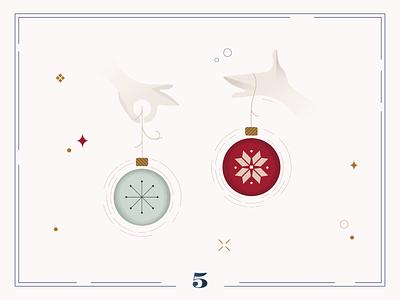 Christmas Calendar 🏵Day 5 christmas card christmas ui calendar illustration digital art