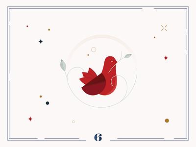 Christmas Calendar🦩Day 6 winter design christmas card christmas ui calendar illustration digital art