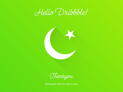 Hello Dribbble! excited firstshot pakistan dribble hello