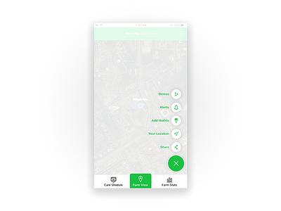 iSinwan - App tabs spacing green menu