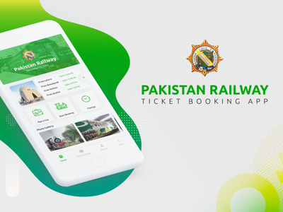 Pakistan Railway - App Redesign userexperiance ticket booking pakistan ux green redesign ux design ui appdesign railway