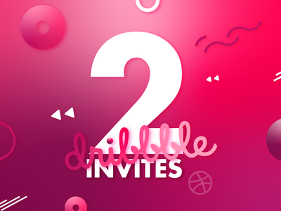 2 Dribbble Invites shots portfolio two invites dribbble