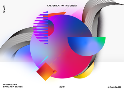 Inspired by Baugasm 2019 trend colors personal branding pakistan illustration photoshop design poster baugasm
