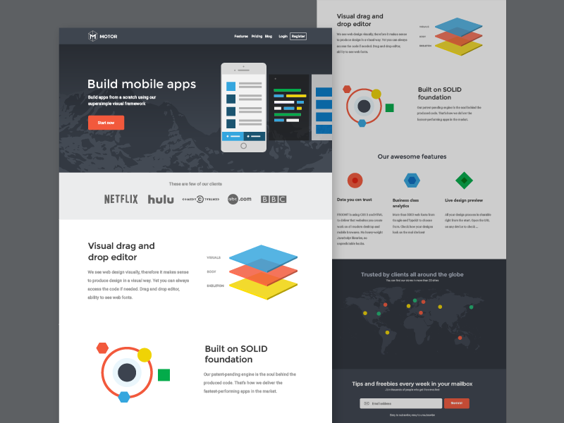 Exploring: colors in web 2 phone app website web design landing page colors
