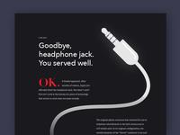 Goodbye, headphone jack.