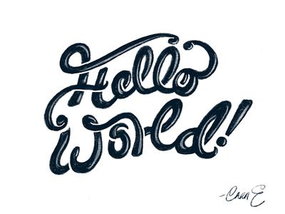 Hello [Dribbble] World!