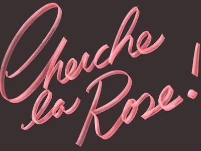 Cherche la Rose! songs french cherche la rose rose drawing custom lettering procreate