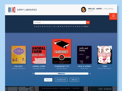 Army Libraries GO-DIGITAL Website experiment patriotic colors book library books military army ui interface web