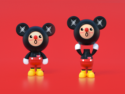 TICKTOYZ-ZOOCLUB-MONOO-MICKEY mascot china c4d