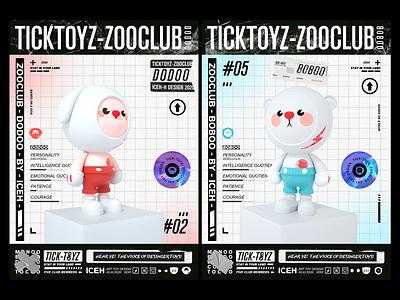 TICKTOYZ-ZOOCLUB-DODOO-BOBOO c4d dog mascot