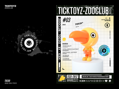TICKTOYZ-ZOOCLUB-TOCOO bird c4d mascot