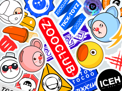 zooclub-Stickers stickers illustration
