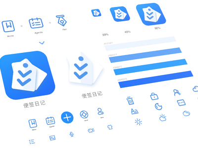 Notes App icons and logo