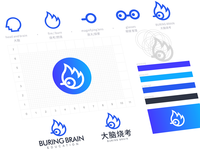 buring brain logo design