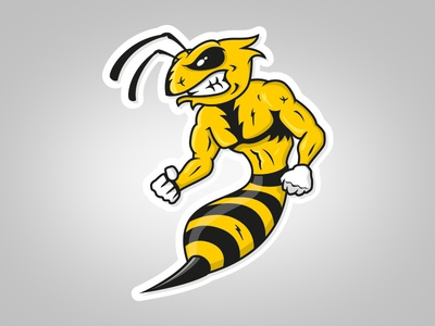 An angry Bee for a Down Hill Rider david houpert the blastart character design illustration vector bee