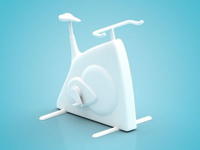 Tiny Cycling wip cycling fitness minimal bike cinema4d illustration 3d