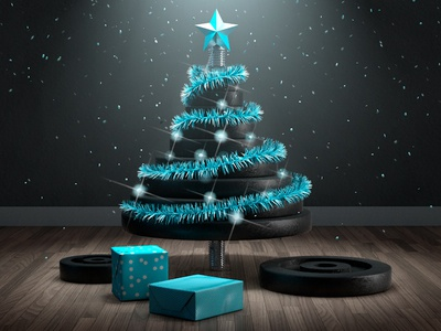 Merry Athletic Christmas ! cinema4d illustration 3d tree christmas