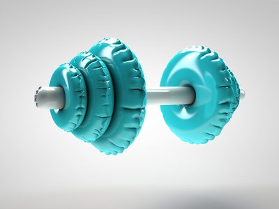 Halt'air infinite coaching sport fitness creation dumbbell inflatable 3d