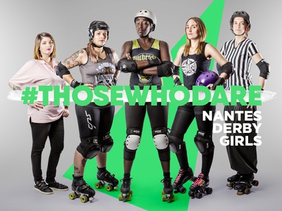 #Thosewhodare roller derby nantes derby girls design graphic photography nantes thosewhodare