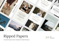 Ripped Papers Instagram Stories Templates