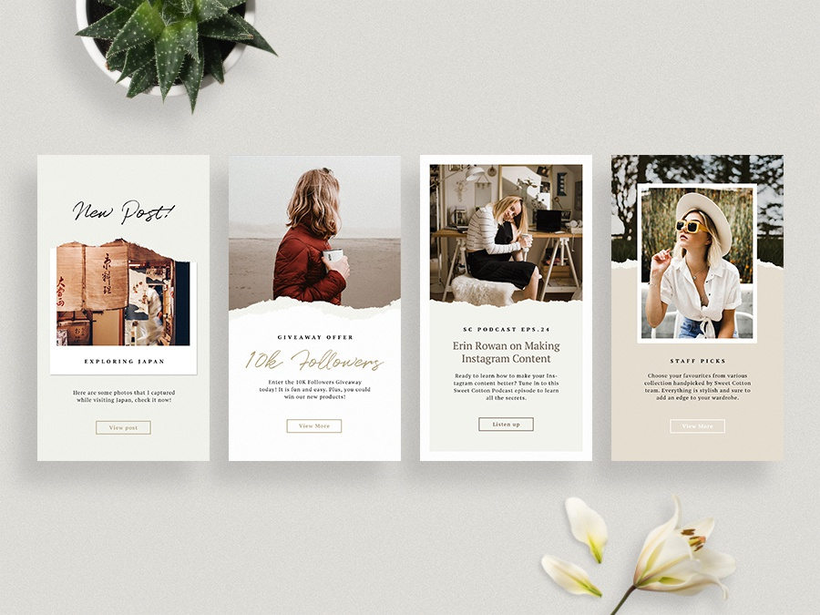 Ripped Papers Instagram Stories Templates by Visualmade on Dribbble