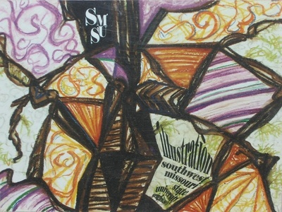 Stained Glass missouri university college bfa illustration design hand drawn mosaic stained glass