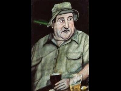 Guy at Bar st saint patrick paddys paddy guinness irish pub pint beer green