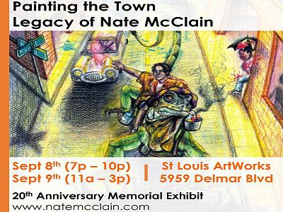 Art Exhibit Sept 8th & 9th in St. Louis MO (Postcard Design) design postcard event anniversary missouri st louis stl mo memorial local art exibit