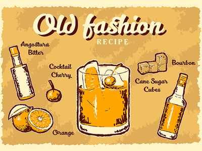Old fashion retro recipe