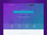 Investment Agency Free PSD Landing Page