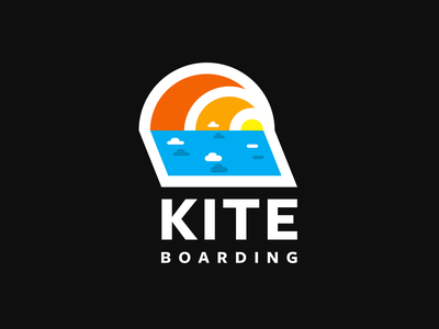 Kiteboarding colorful abstract kite sticker kitesurfing kitesurf surfing surf kiteboarding