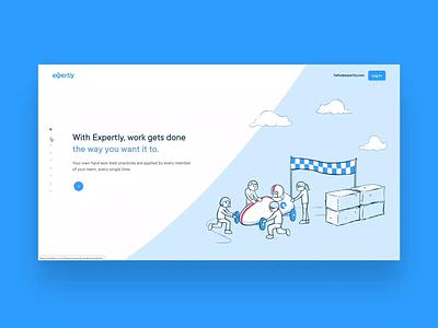 Expertly Teamwork Website webflow project managment illustraion narrative branding website ux ui design