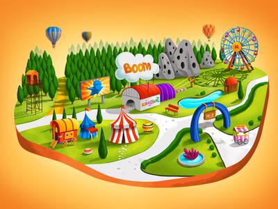 Wingsuit Map wingsuit fair ui illustration map app map game ui cartoon ui art gameart digitalartist app 2d shot pixeren game digitalart design color art