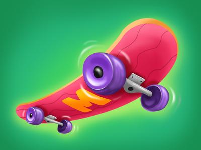 Skateboard design pixeren icon dribbble digitalartwork debut 2d artist cartoon ui art gameart digitalartist shot app ui game digitalart 2d illustration color art