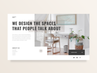 Interior Design Agency Main Screen